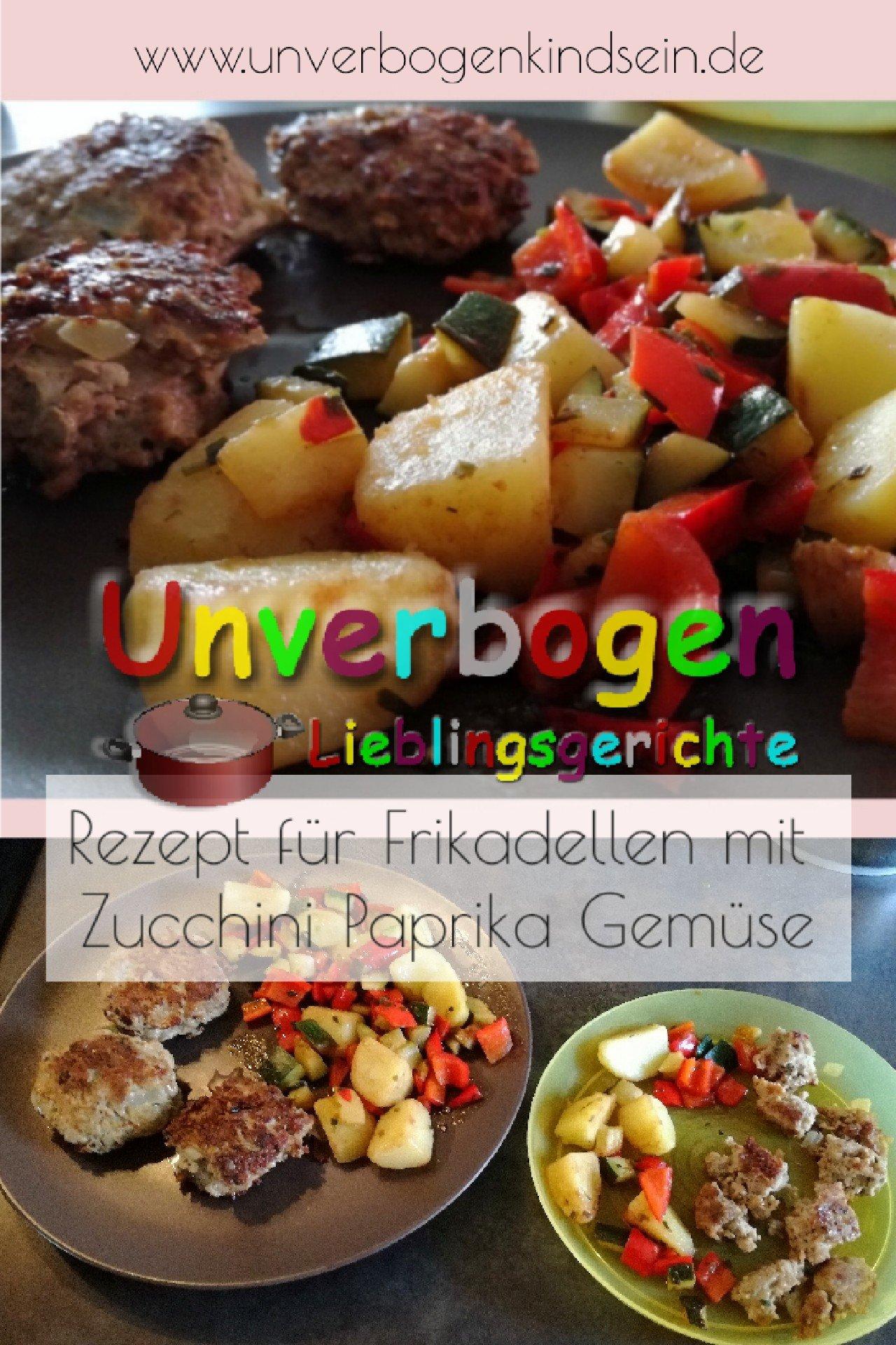 Pin Rezept Frikadellen Zucchini Paprika
