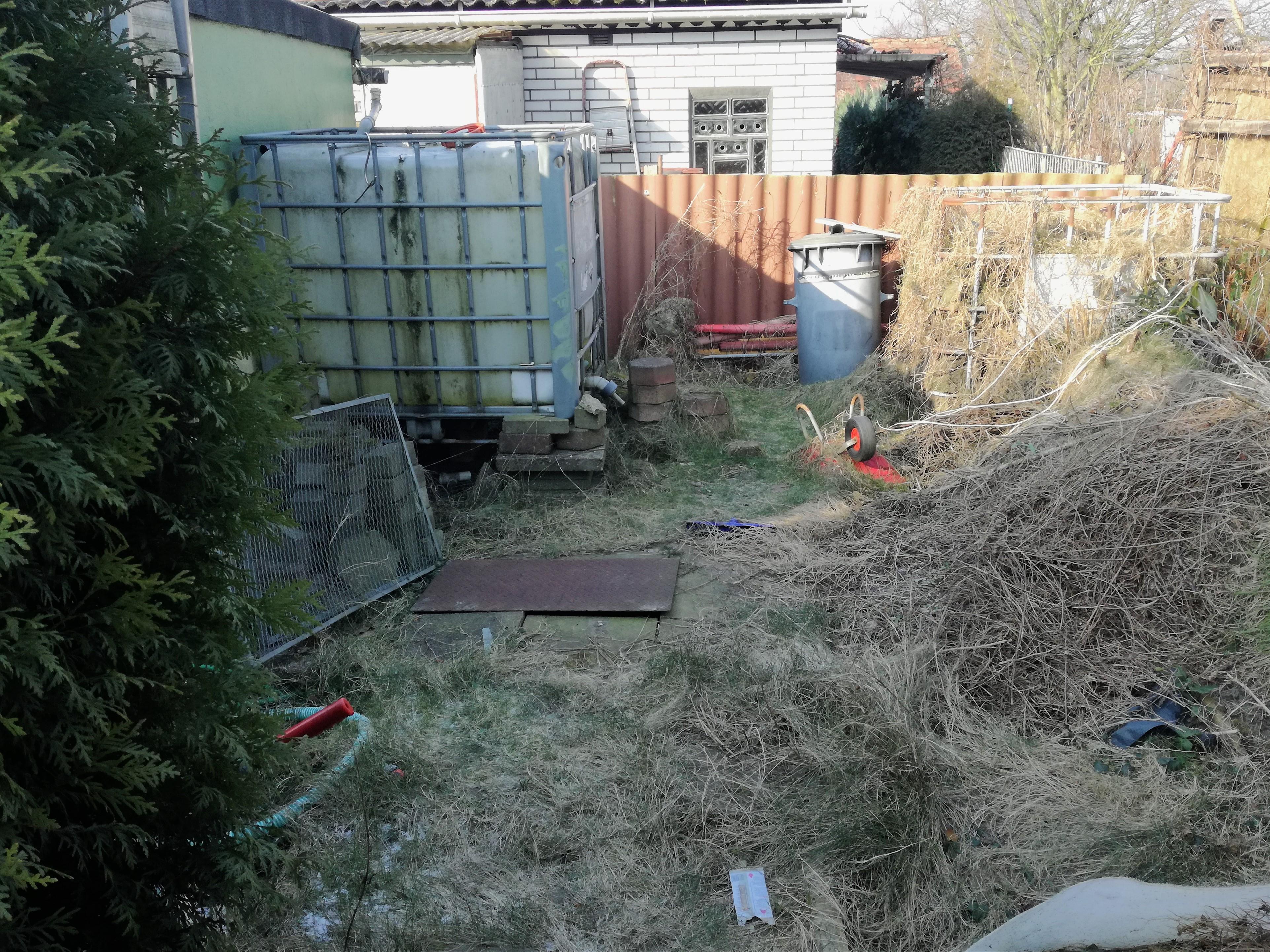 Gartenansicht Kompost