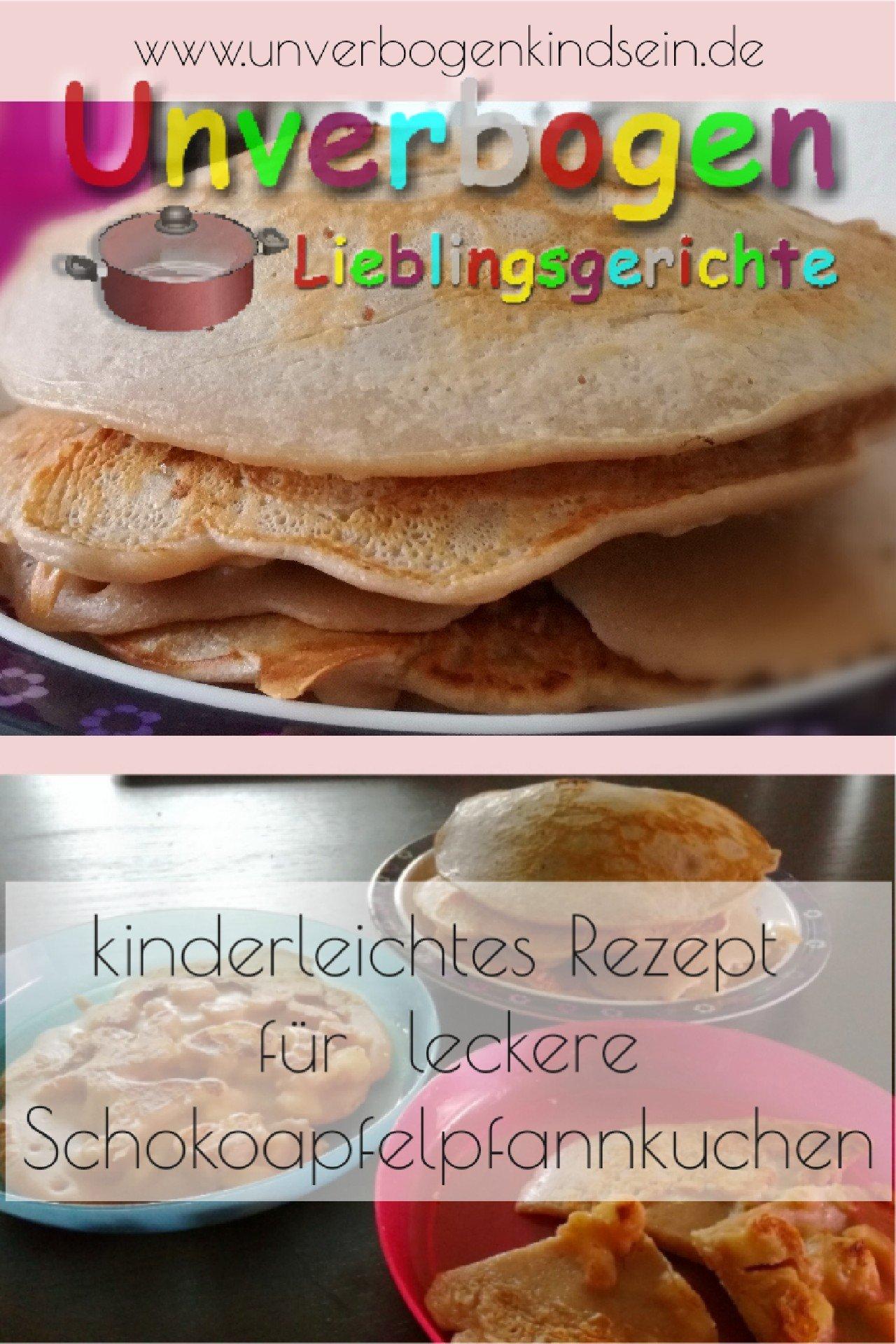 Rezept für Schokoapfelpfannkuchen | Unverbogen Kind Sein