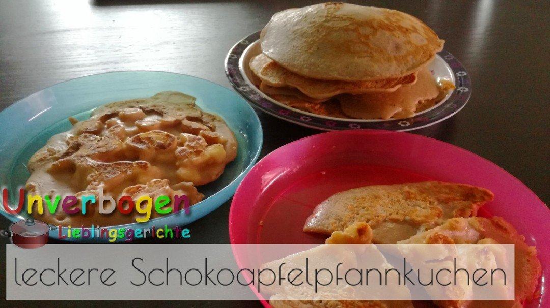 Rezept für Schokoapfelpfannkuchen
