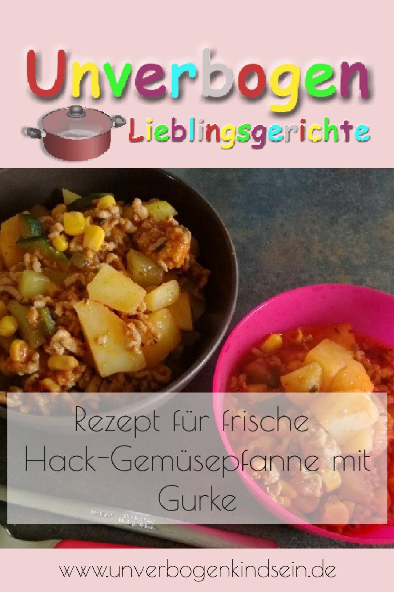Rezept für Hack-Gemüsepfanne | Unverbogen Kind Sein