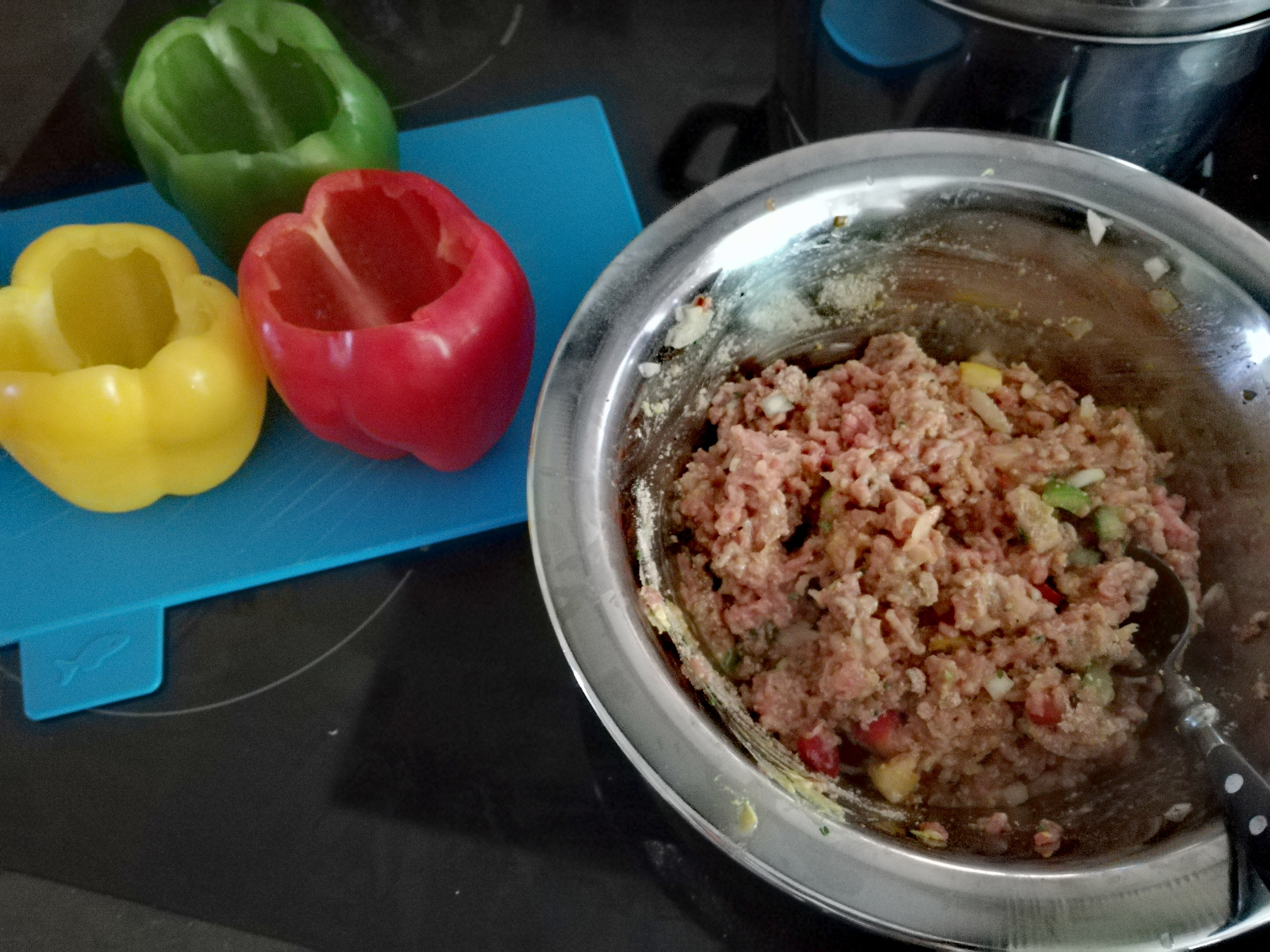 Rezept für gefüllte Paprika mit Reis