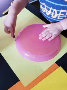 Uhr basteln Kreise malen