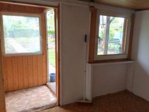 Laube Innen Fensterseite