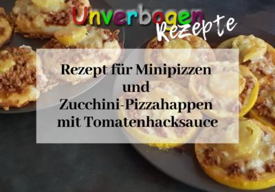 Minipizzen und Zucchini-Pizzahappen