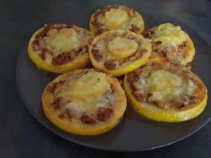 Zucchini-Pizzahappen