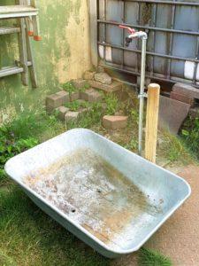 Wasserstelle im Garten
