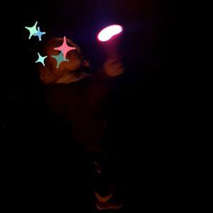 Nachtwanderung mit Taschenlampe