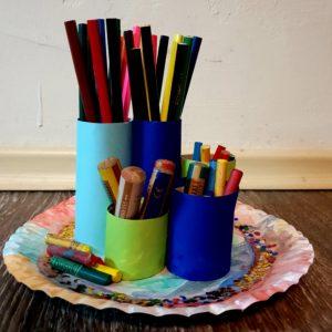 Stiftehalter Basteln fürs Kinderzimmer