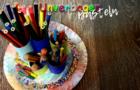 Stiftehalter basteln aus Papprollen | Unverbogen Basteln