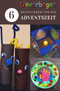 Weihnachtsbasteln Basteln im Advent 6 Bastelideen für #weinachten #basteln #weihnachtsbasteln