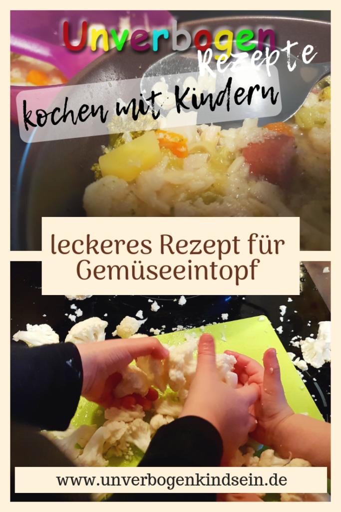 Rezept für Gemüseeintopf #kochenmitkindern #rezept