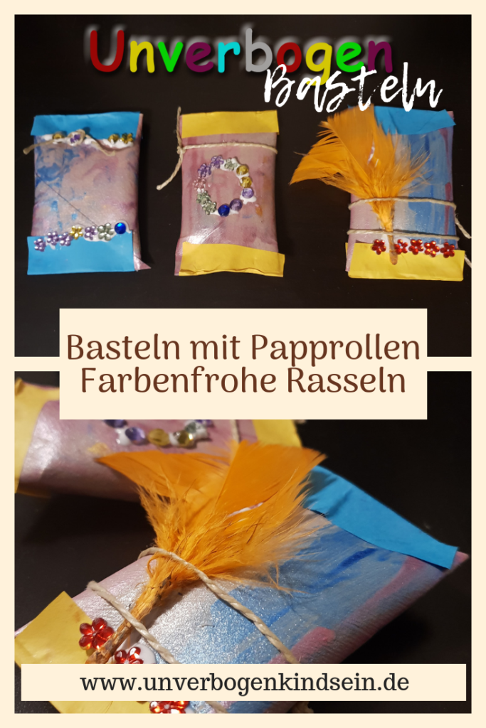 Rasseln aus Papprollen Basteln #Bastelanleitung #Bastelideen