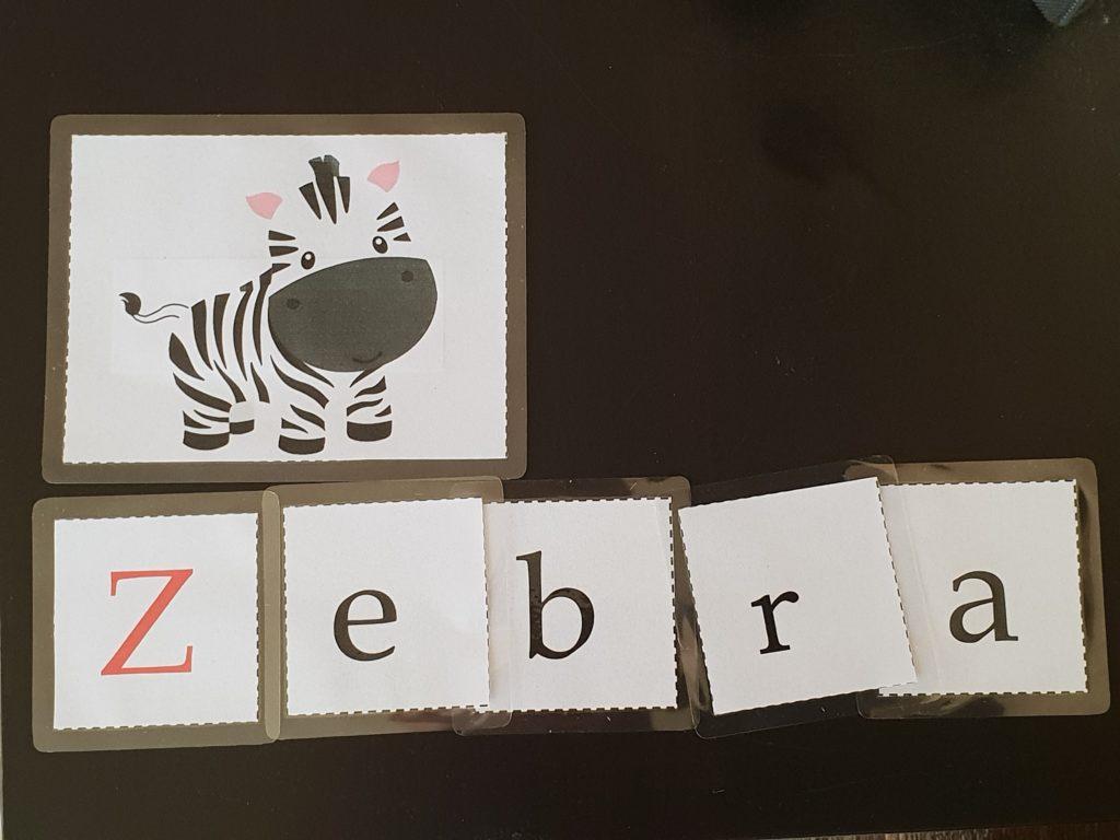 Buchstaben lernen Lernkarten Wörter schreiben