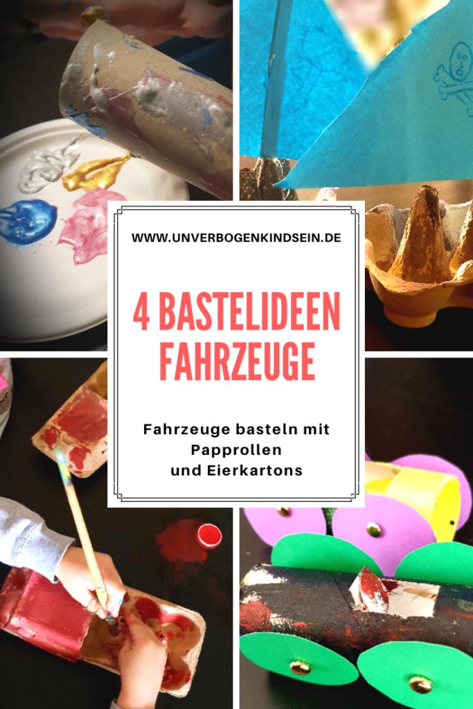 Basteln | Fahrzeuge Basteln mit Papprollen und Eierkartons