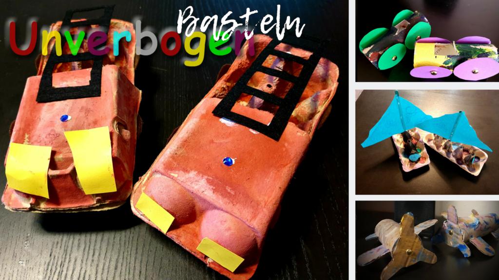 Basteln | Fahrzeuge basteln aus Papprollen und Eierkartons