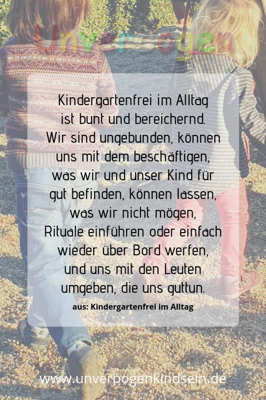 Kindergartenfrei im Alltag Zitat