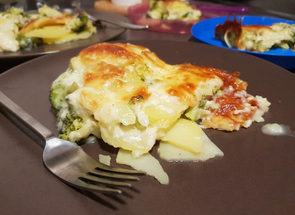 Rezept für Kartoffel Brokkoli Gratin