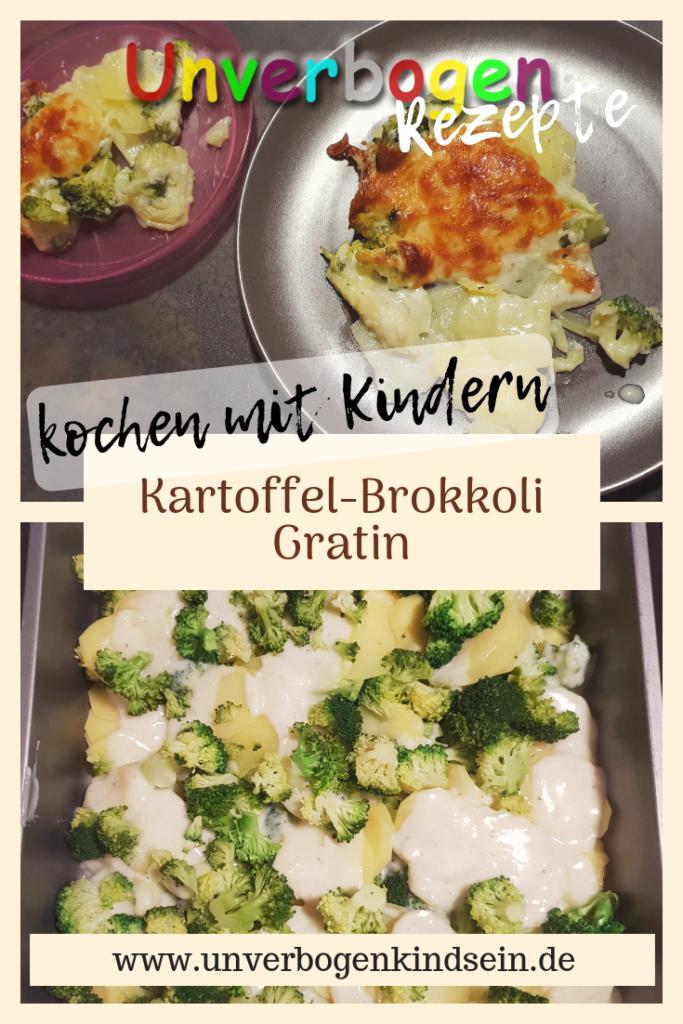 Rezept für Kartoffel Brokkoli Gratin #rezeptefürdiefamilie #kochenmitkindern