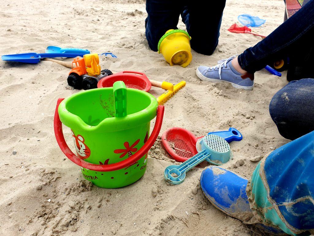 Noch einmal Buddeln im Sand