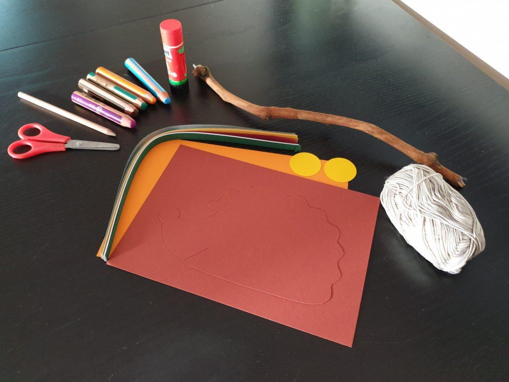 Herbstliches Mobile Basteln Material