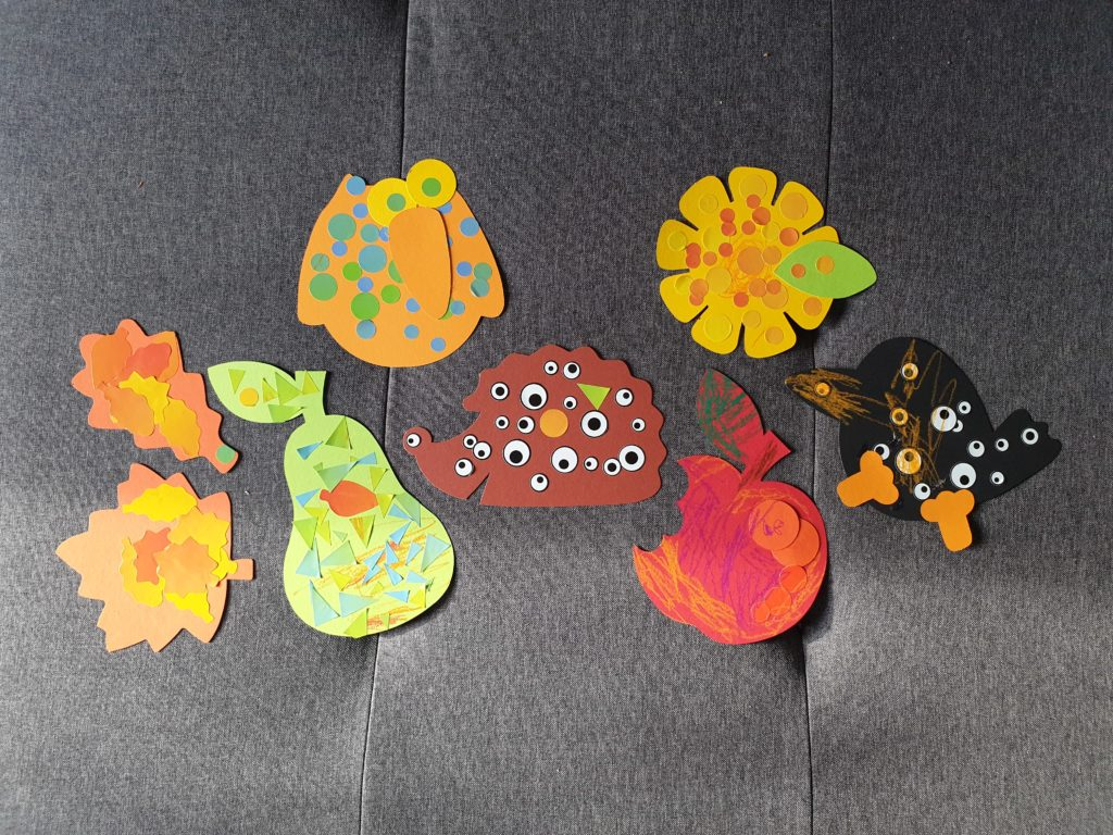 Herbstbasteln herbstliche Motive Erstes Herbstbasteln