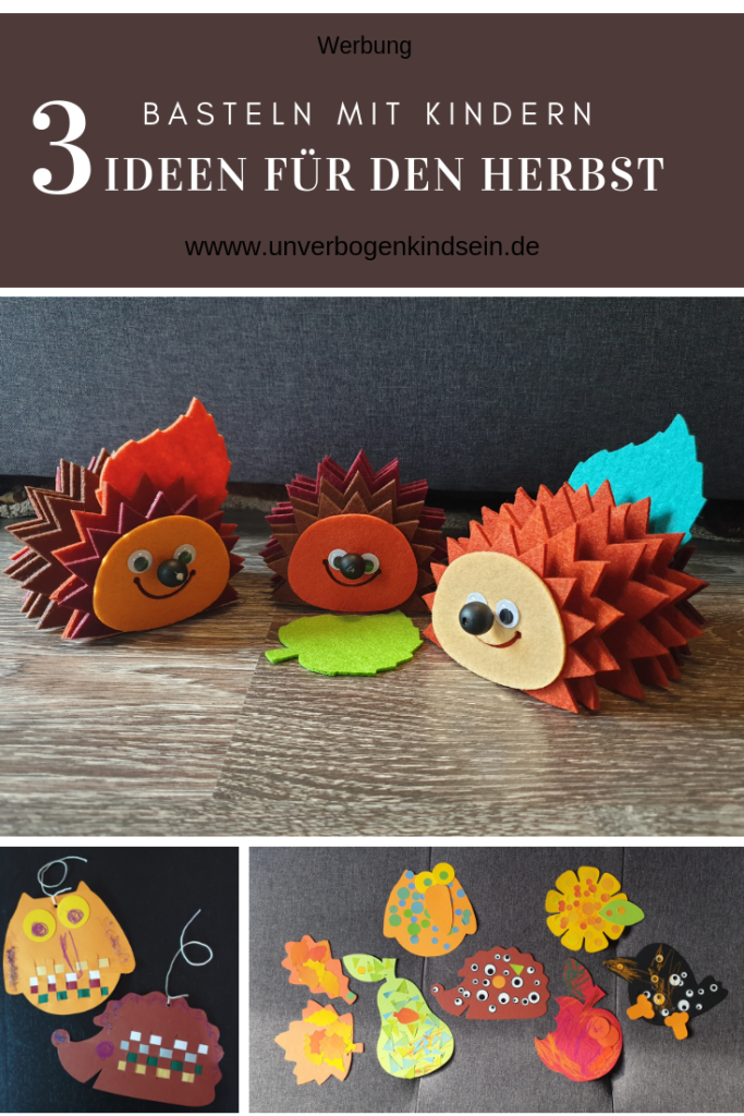 Herbstbasteln 3 Ideen für den Herbst #werbung #bastelnmitkindern #herbst
