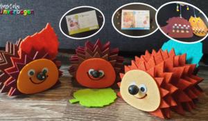 Herbstbasteln Igel, Eule und Co Bastelideen für den Herbst