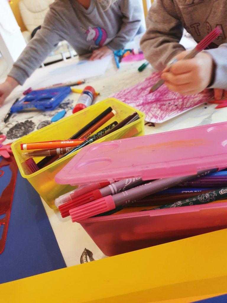 Wochenende in Bildern November19 Die Kinder beim Malen
