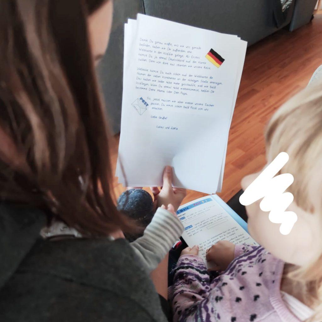 lukas und lara auf tour Der erste Brief